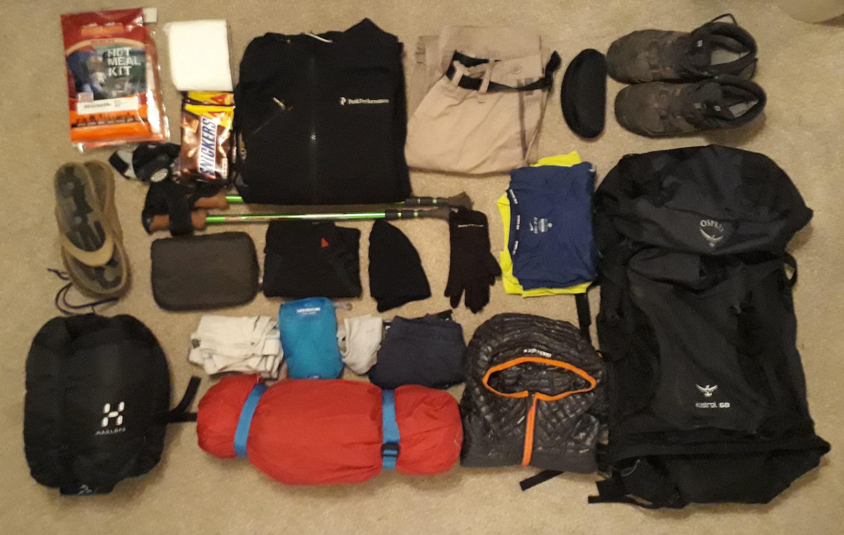 what to pack for backpacking