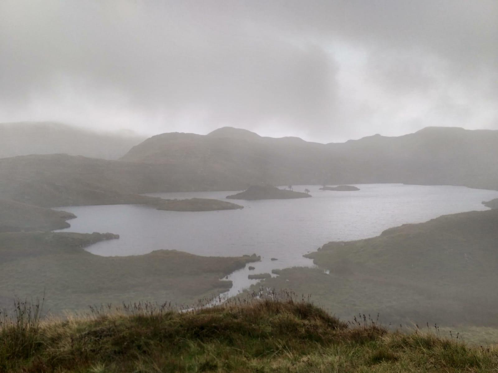 misty angle tarn lake district