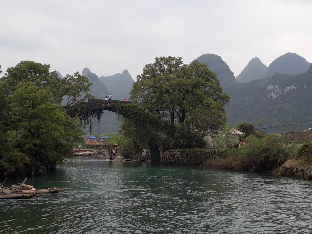 Li River Bridge Raft Yangshuo