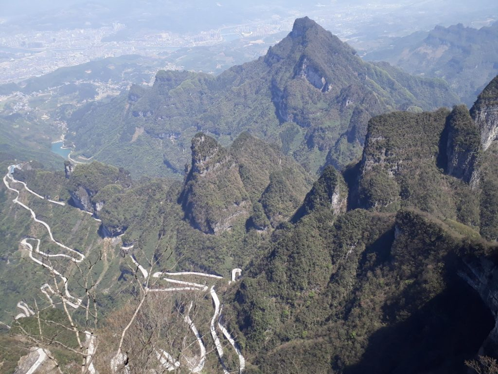 Backpacking in Tianmen Mountain China