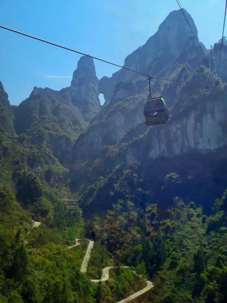 Cablecar in Tianmen Mountain China