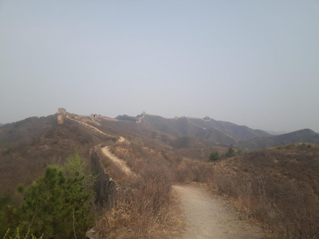 Solo camping great wall of china