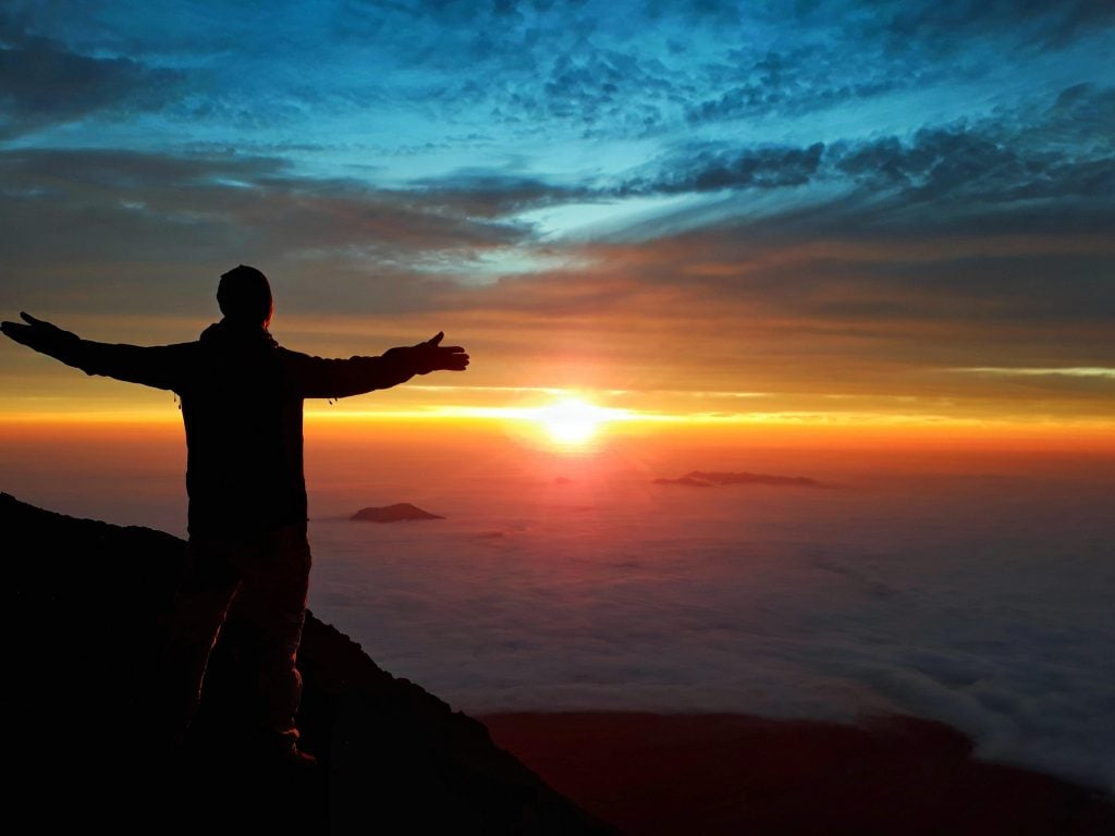 Hiking Mount Fuji sunrise