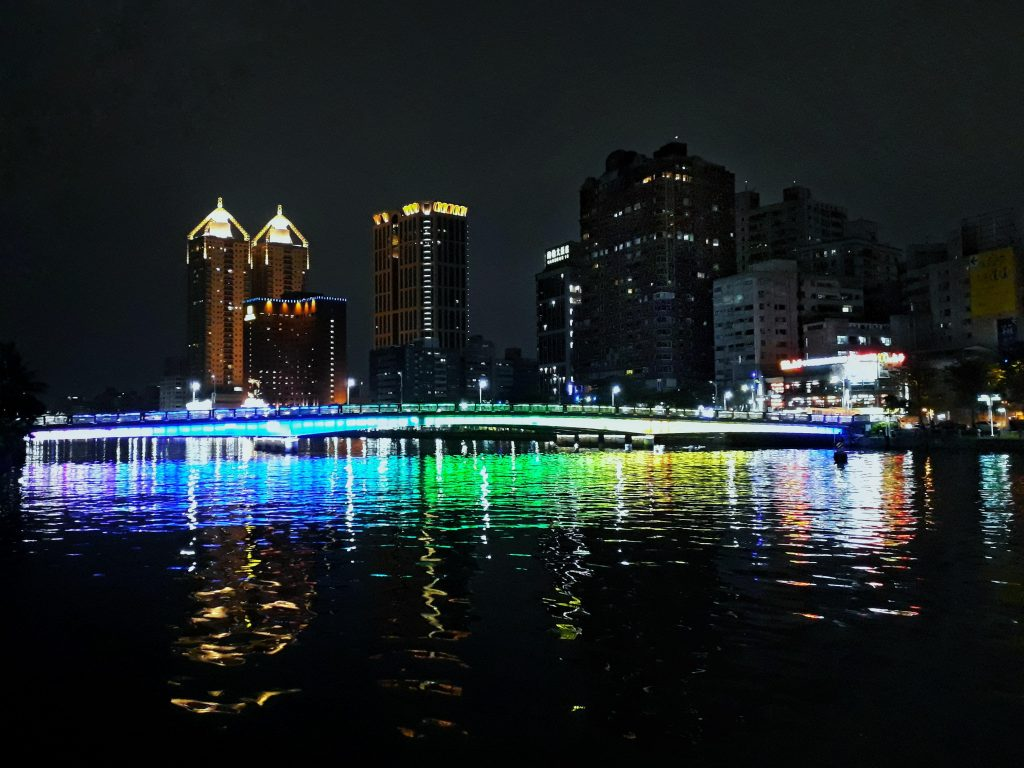 Love river at night