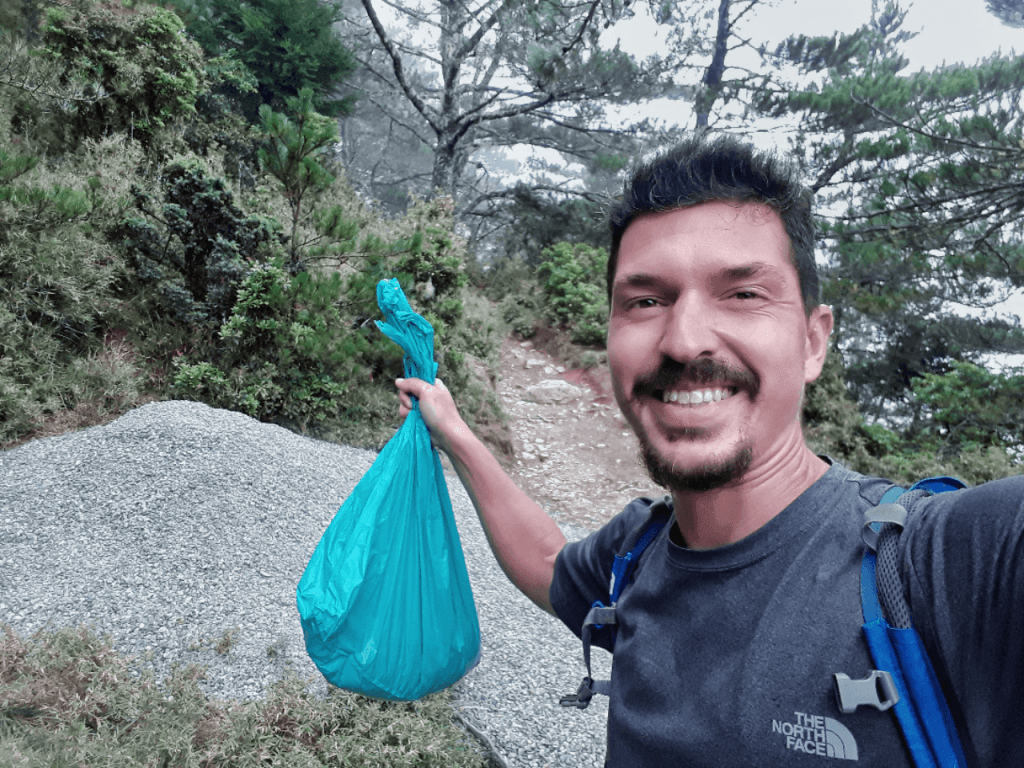 Carrying gravel to repair trail