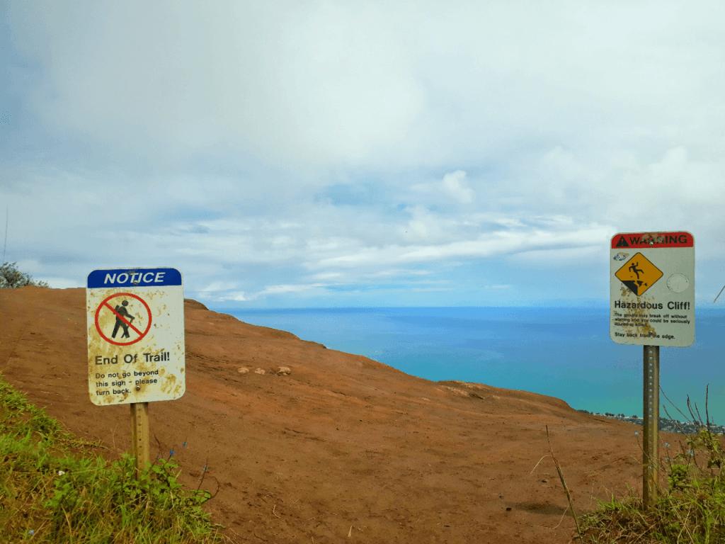 end of kuliouou ridge trail