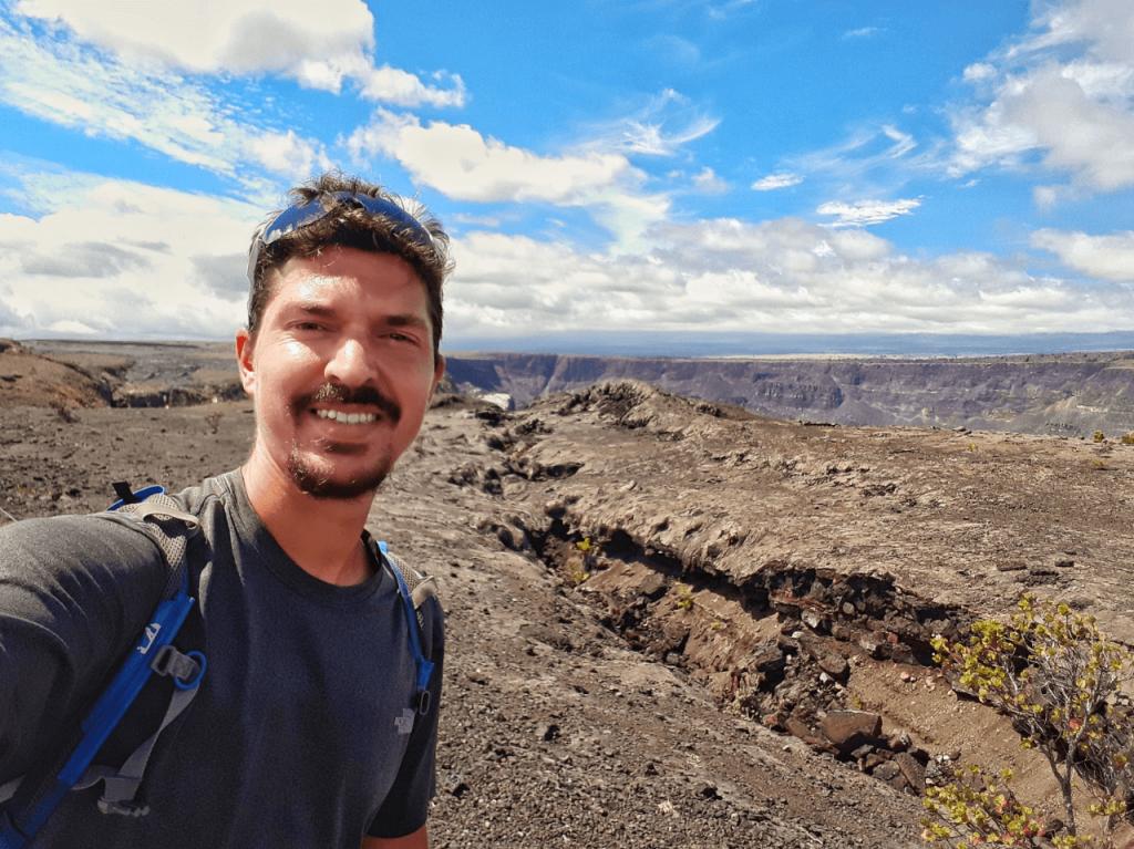 volcano national park overlook
