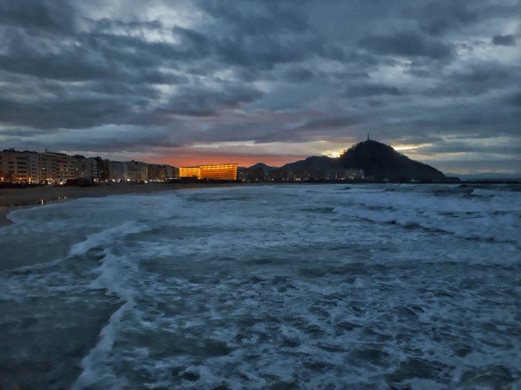 sunset in san sebastian