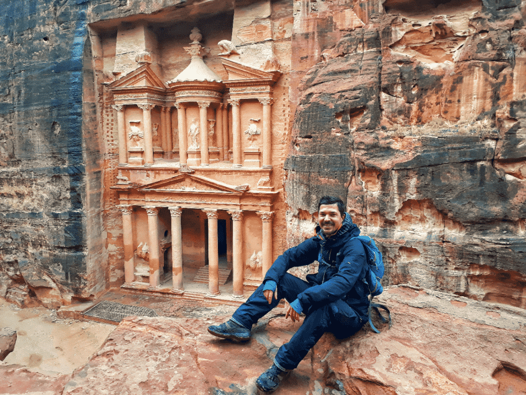 backpacking in petra