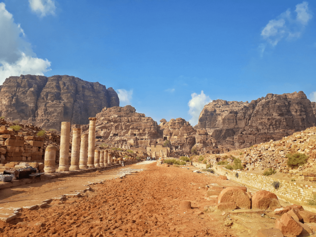 ruins in petra
