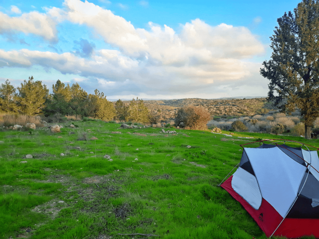 camping during the israel national trail