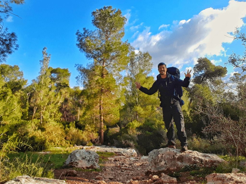 solo hiking the israel national trail