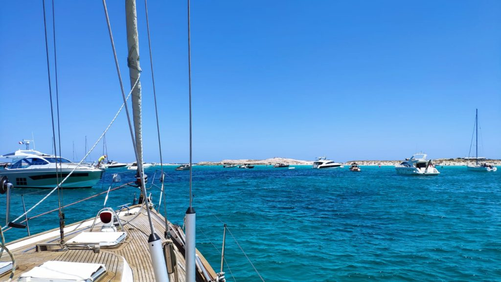 anchoring in formentera